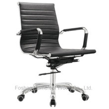 Hot Sale Modern Medium Back Leather Office Swivel Chair (HF-CH022B)