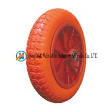 3.00-8 roues de brouette de roue libre de mousse d'unité centrale avec le chariot de main de chariot à main de brouette de couleur de rayon
