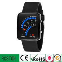 LED Digital Watch with Fan Lights