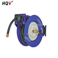 A18 stainless steel Retractable Oil/Air hydraulic Hose Reel drum with 50ft rubber hose