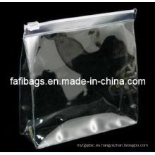 Bolso transparente del cosmético de la cremallera del PVC 3size