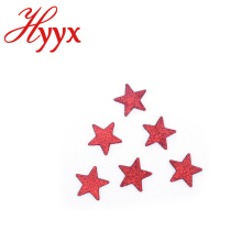 HYYX New Customized Prata Glitter Cinco Ponto Estrela Estrela Múltipla enfeites de natal
