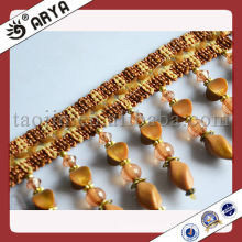 Good Design Acrylic Beaded Fringe Tassel for Curtain