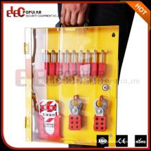 Elecpopular Import China Produtos Segurança Metal Lock Cabinet Lockout Tagout Station com porta