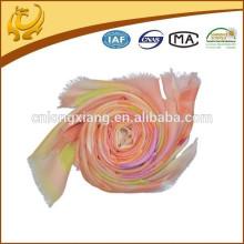 Qualität und helle Farbe Kaschmir Feel Wolle Material Frauen Siebdruck Schal