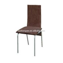 Backrest Restaurant Chair Metal Steel Tube para jantar