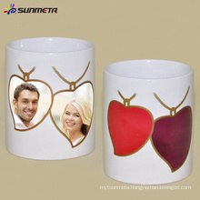 Sunmeta customized sublimation photo /logo ceramic color changing mugs