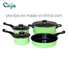 Panela de aço de carbono 7PCS / panela de cozinhar / molho / caçarola