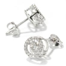 Bijoux en diamant à la danse à la mode 925 Boucles d'oreille en argent