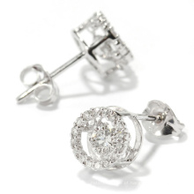 Fashion Dancing Diamond Jewelry 925 brinco de prata Stud