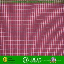Tecido de poliéster xadrez com fios tingidos para vestuário