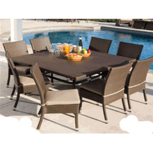 Modern Design Garden Furniture Outdoor Rattan Dining Set
