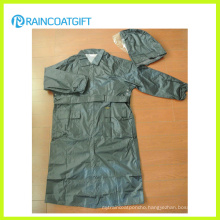 Rvc-169 100% Polyester PU Coating Police Raincoat