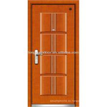 Seguridad Puertas de seguridad serie, puerta blindada de madera de acero, puerta de acero fundido térmico
