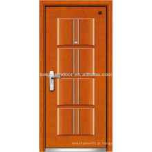 Série de portas de Segurança Segurança, porta de aço blindada de madeira, porta de aço fundido térmico