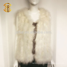 Whosale Quality Ladies Genuine Turky Feather Fur Short Vest