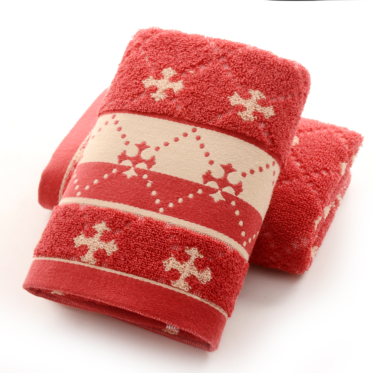 Towels Snowflake Patterned
