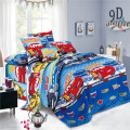 Cartoon Printed Polyester Voile Children Bedroom Sheets