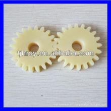 Engrenages droits en plastique de taille standard, équipement en nylon