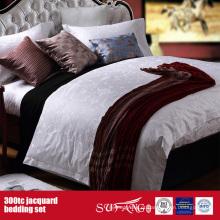Projeto novo da folha de cama do hotel ajustado do fundamento do jacquard 300TC
