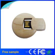 Natural Wood Circle Card UDP USB Stick