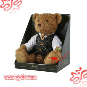 clothes teddy bear in gift box