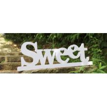 Signe de décoration de lettres anglaises en bois sur mesure pour la chambre à coucher