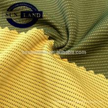 umidade wicking secagem rápida coolmax carvão de bambu de dupla face tecido de bloqueio de malha
