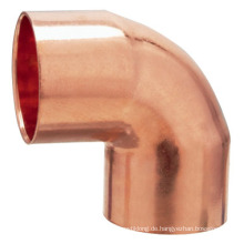 J9004 Kupfer 90 Grad Winkelstück CXC, 90 Winkelstück, Kupferrohrverschraubung, UPC, NSF SABS, WRAS genehmigt