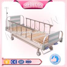 Hot sale hospital adjustable manual bed with 2 cranks