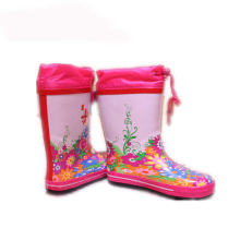 China Cheap price for Kids Rubber Boot Children Rain Boots with Waterproof Drawstring Rope export to Belarus Wholesale