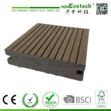 Revestimento exterior barato do assoalho decking composto plástico de madeira exterior contínuo de 100 * de 25mm
