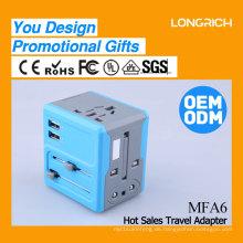 Mehrzweck-hochwertiger Universal-Reiseadapter mit Dual-USB