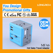 Multi-purpose high quality universal travel adapter with dual usb