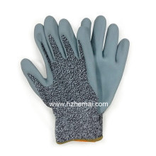 Foam Nitrile Hppe Fiber Gloves Anti Cut Safety Work Glove