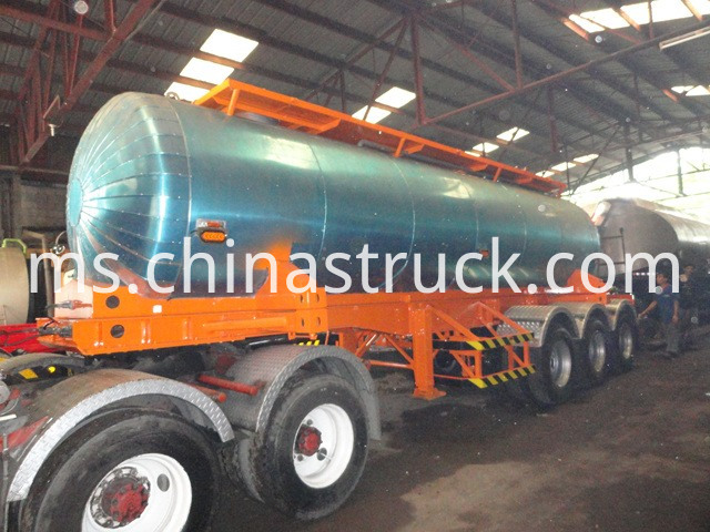 Semi Trailer Tanker For Liquid Molten Sulfur