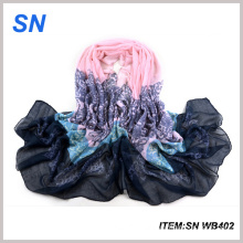 Wholesale Fashion Autumn Knit Voile Scarf