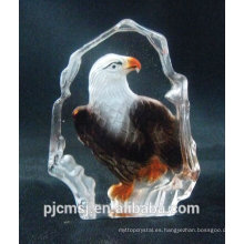 2015 venta caliente barato iceberg de cristal para la decoración de imagen de cristal de águila