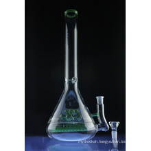 Mega Beaker Smoking Glass Water Pipe with Inline to Double Cross Perc (ES-GB-582)