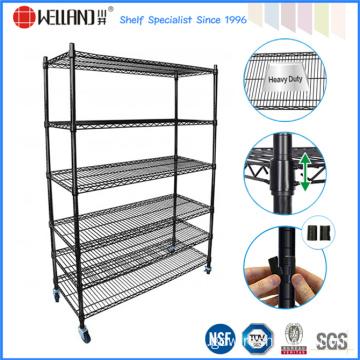 adjustable 6 tier powder coating metal stacking wire shelf. Black Bedroom Furniture Sets. Home Design Ideas