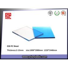 Folha eletrostática do policarbonato do ESD Dissipative