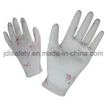 Печати полиэстера работы перчатку с Palm PU покрытием (PN8014-7)