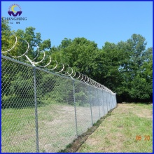 Galvanized Diamond Mesh Removable Chain Link Fence