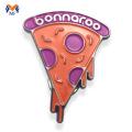 Cheap pizza soft enamel lapel pin badge