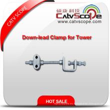 Alta calidad ADSS fibra óptica Cableu tipo Down-Lead Clamp para torre