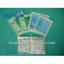 bolsa compleja de papel / aluminio / plástico sin problemas para el embalaje de suministros médicos