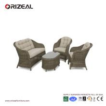Outdoor Rattan Runde hohe Rückenlehne Sofa Set OZ-OR070