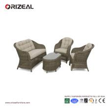 Открытый ротанга круглый диван с высокой спинкой набор OZ-OR070