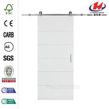 30 pulg. X 84 pulg. Panel de panel sólido de 5 núcleos con relleno de ribera Igual Placa de puerta de granero interior