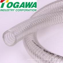 Manguera transparente antiestática del PVC del PVC de la alta calidad para el polvo, aceite, agua. Hecho en Japón (plástico transparente blanco de la manguera)